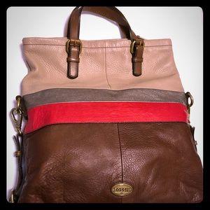New original Fossil handbag, genuine leather.